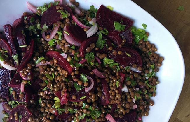 Lentil & Beetroot Salad