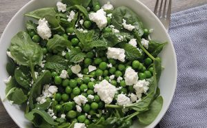 Green Pea Salad with Mint & Feta