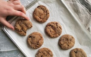 Vegan Spice Cookies with Candied Ginger